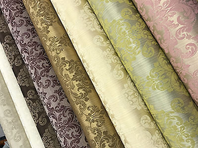 2018 Latest 'Galaxy' Soft Damask Brocade Furnishing Decor Cotton Curtain Fabric