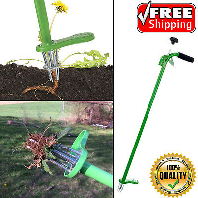 Weed Zinger Stand-Up Garden Weeding Remover Tool Spring Release Telescoping Hand