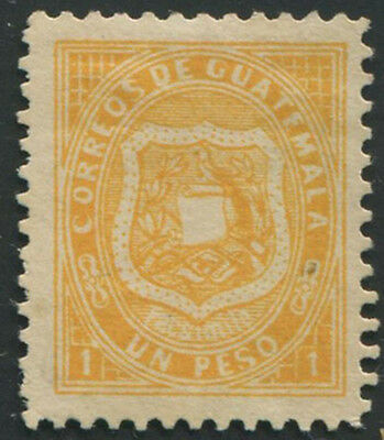 Guatemala 1873 1p with facsimile below shield