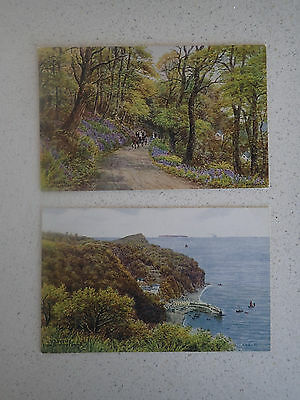 Vintage Postcard. Clovelly. Drawings by A.R. Quinton (43,44)