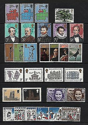 GB Stamps 1973 Commemoratives - U/M (Multiple listing)