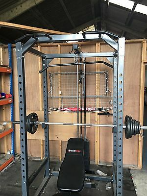Bodymax Power Cage Complete With Benches, Weight Stack And Free Weights