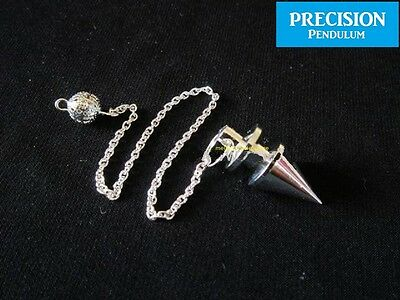 The Prophecy Silver Solid Metal Precision Pendulum with Chain Dowsing Divination