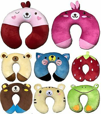 Children Kids Animal Travel Supersoft Neck Pillow Cushion Sleep Support Car Home