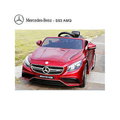 Licensed Mercedes S63 AMG Ride on 12v Electric Car With Remote Control - Red