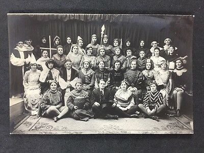 Vintage Postcard: Real Photo: Anonymous People: #A137: Theatre Group Swansea