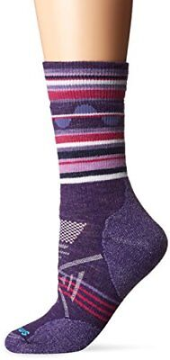 Smartwool Phd Outdoor Pattern Crew, Calze Donna, Mountain Purple, L (k7J)
