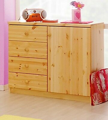 kommode schrank kiefer natur lackiert massiv holz neu ovp. Black Bedroom Furniture Sets. Home Design Ideas