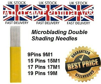 Microblading needles U14 , U18, L7, L9, L11, L14, R5, PCD 14CF, Double row shadi