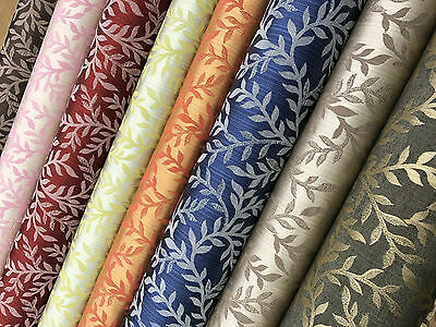 2019 Latest 'Galaxy' Soft Leaves Brocade Furnishing Decor Cotton Curtain Fabric