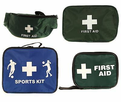 Qualicare Empty First Aid Kit Bags - Bum, Zip, Pouch, Sports, Green, Small Large