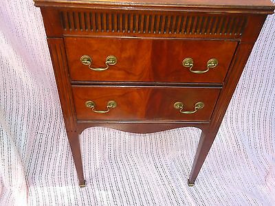 Perfect Sewing Cabinet Co. Caswell- Runyan Thread Cabinet Cherry Wood 1930