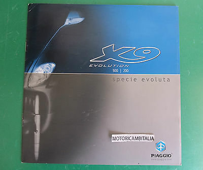 Beverly 500 200 Advertising Piaggio Pubblicita Depliant Brochure Catalogue