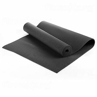 Yoga Mat EXTRA THICK 6mm 173cm x 61cm Non Slip Exercise/Gym/Camping/Picnic Black