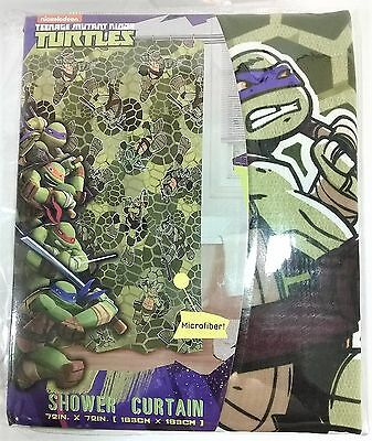 NEW Teenage Mutant Ninja Turtles Bathroom Fabric Shower Curtain Microfiber TMNT