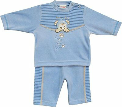Schnizler Bear for You, Completo Unisex - Bimbi 0-24, Blu, 80 (d0S)