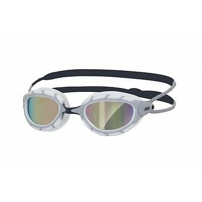 Zoggs Predator Mirror Curved Lens Anti-Fog Protection Swimming Goggles