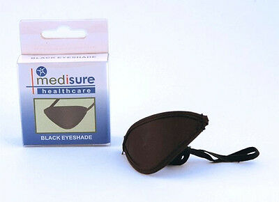 Medisure Black Eyeshade- Elastic Eye Cover Shade Patch Medical First Aid Protect