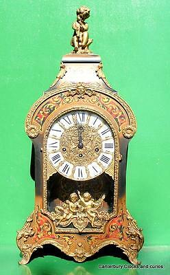 Large Vintage Ormolu Boulle Type 8 Day Westminster Chime Bracket Mantle Clock