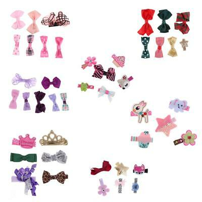 Funny Flower Bowknot Tiny Hair Clip Snaps Hair Accessories for Girls Kids Baby