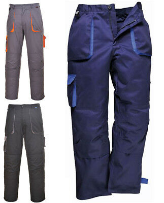 Portwest TX11 Texo Contrast Work Cargo Trousers | Knee Pad Pockets