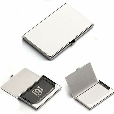 Pocket Stainless Steel Look Metal Business ID Credit Card Holder Case Wallet