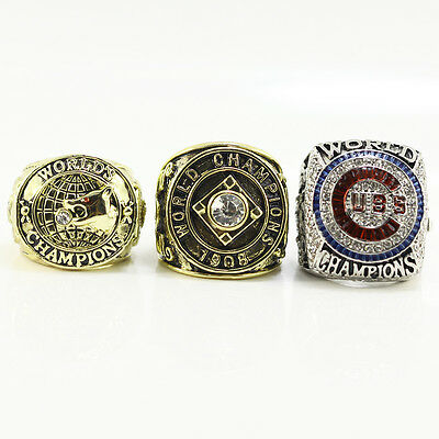 3PCs/set 1907 1908 2016 Chicago Cubs World Series Championship Ring (RIZZO)