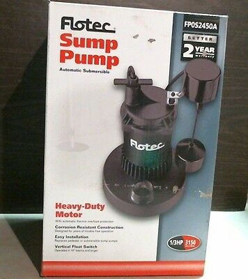 Flotec 13819 FP0S2450A Automatic Submersible Sump Pump 1/3 HP FREE SHIPPING