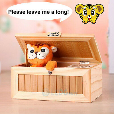 Useless Box Leave Me Alone Box Wooden Most Machine Don't Touch Tiger Toy Gift US