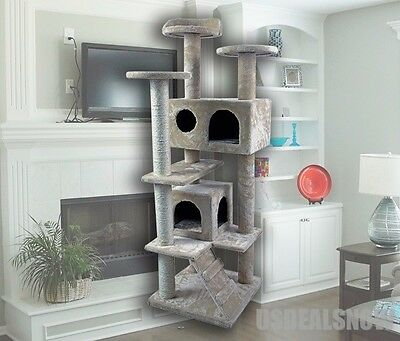 Cat Kitty Tree Scratcher Play House Condo Furniture Toy Bed Post House CHOICE