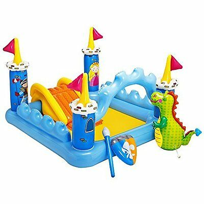 Inflatable Kids Water Play Center Outdoor Above Ground Swimming Pool Castle Pool