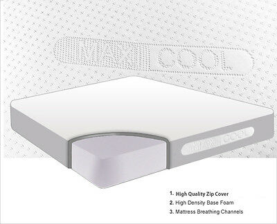 New Orthopaedic Foam Mattress For Any Bed Size With CoolMax Cover In All Sizes