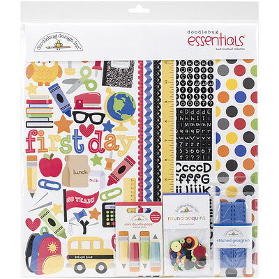 "Doodlebug Essentials Page Kit 12""X12"" Back To School SCH4710"