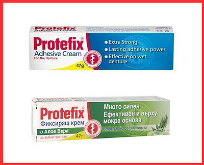 Protefix  Adhesive Extremely strong fixing cream 47g Neutral or Aloe vera