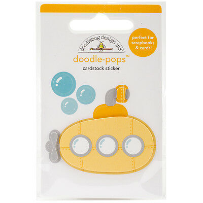 Doodlebug Doodle Pops 3D Stickers Yellow Submarine AA4974