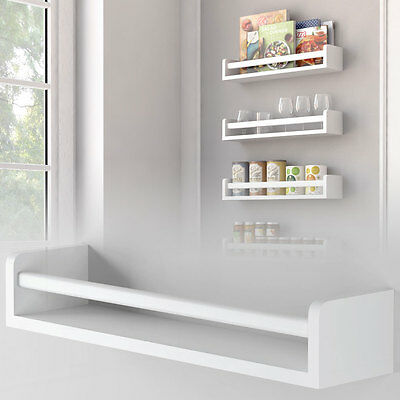 White Kitchen Wall Shelf Spice Rack Organizer Wood Fully Assembled 17.5 Inch …