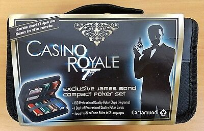 James Bond 007 Compact Poker Set Chips & Cards by Cartamundi - Casino Royale