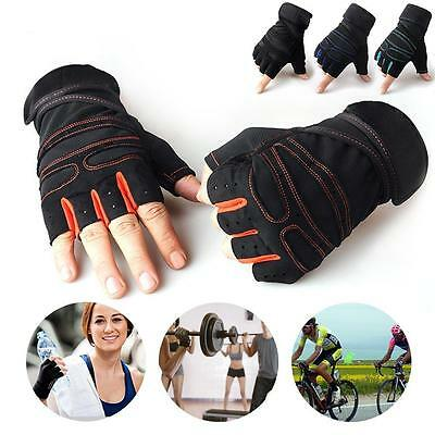 Men's Fitness Exercise Workout Weight Lifting Sport Gloves Gym Training Women #4