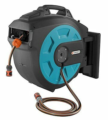 Gardena 8023-20 Comfort Wall Mounted Hose 25 roll-up automatic