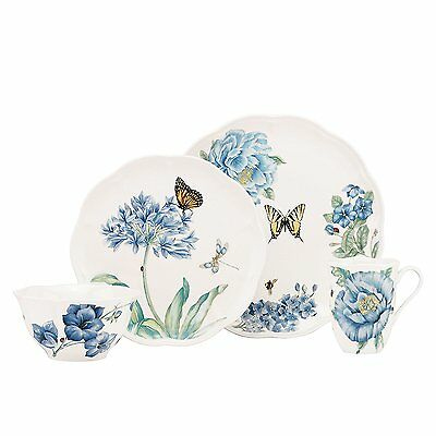 Lenox Butterfly Meadow Blue 4-Piece Place Setting (833421) NEW