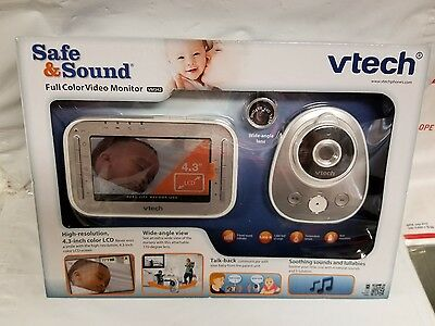 VTech VM342 DIGITAL BABY VIDEO MONITOR Full Color Wide Angle 2 Way Talk 4.3 NEW
