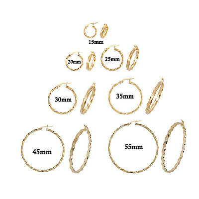 9ct Gold Twisted Creole Hoops