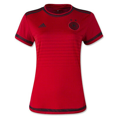adidas Women's Germany 15/16 WC Away Jersey Red/Black S90315