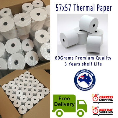 100 Rolls 57x57mm Thermal Paper Cash Register Receipt Roll