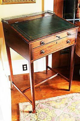 English George III Sheraton Period Inlaid Mahogany Standing Clerk's Desk c. 1786
