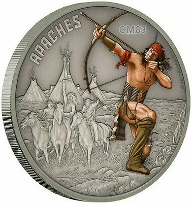 2106 1 Oz Silver Coin - APACHE - WARRIORS OF HISTORY - Niue