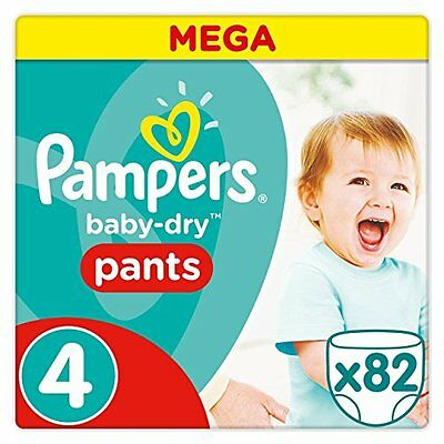 Pampers Baby-Dry Pants pannolino 82 pezzi dimensioni 4 8 – 14 kg (C5v)