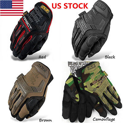 US Camouflage Tactical Gloves Military Army Airsoft Paintball Full Finger Gloves