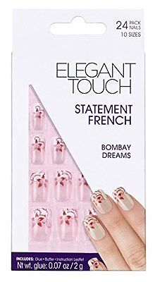 Elegant Touch Decorated French False Nails - Bombay Dreams - 203 (O8G)
