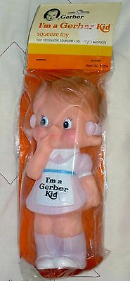I'm A Gerber Kid Girl 1985 Vinyl Advertising Figure Ad Mascot Squeeze Toy Doll